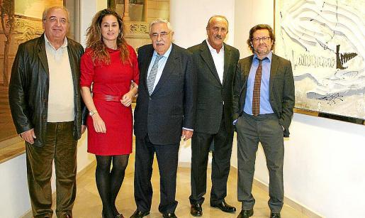 Gabriel Vanrell, Rosa Vanrell, Pere A. Serra, Estartús y Juanjo Oliva.