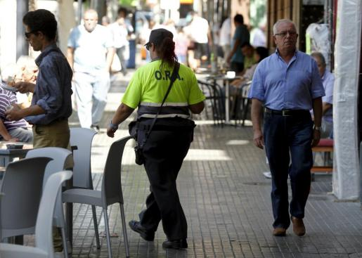 Los vigilantes de la ORA detuvieron al ladrón en las inmediaciones de la calle Gabriel Llabrés, en la barriada de Pere Garau.