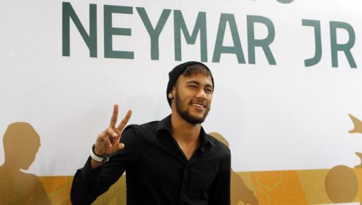 El jugador del Barcelona, Neymar.