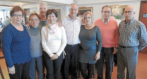 Àgueda Meca, Anastasia Carrión, Magdalena Sobe, Teresa Roig, Celestino Tarrats, Carmen de Pedro, Joan Miró y Jesús del Cerro-González.