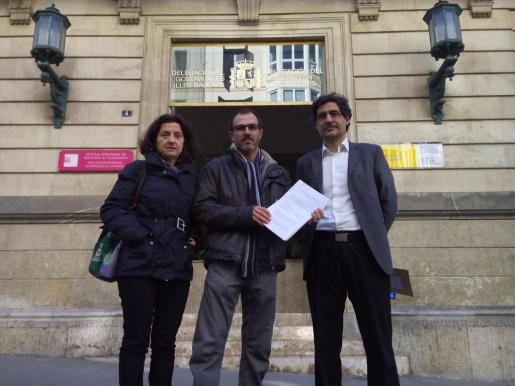 Fina Santiago, Biel Barceló y Miquel Àngel Mas.
