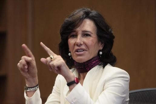 La presidenta del español Banco Santander, Ana Patricia Botín.