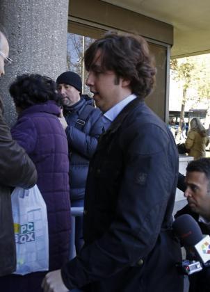 """Francisco Nicolás Gómez Iglesias, conocido como el """"pequeño Nicolás"""", a su llegada hoy a los Juzgados de Plaza de Castilla, en Madrid."""