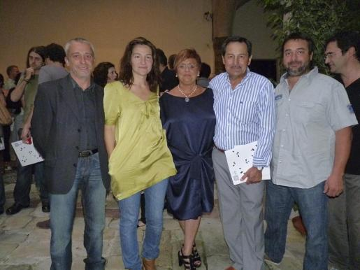 Àngel Pujol, Joana Borrás, Francesca Vives, Josep Oliver y Joan Mas.