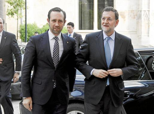 Esta es la única reunión oficial que han mantenido de manera bilateral esta legislatura Mariano Rajoy y José Ramón Bauzá. Fue en marzo de 2012, coincidiendo con una reunión en Palma del Partido Popular Europeo.