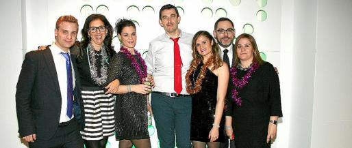 Xisco Amengual, Mónica González, Gema Campoy, Julio Gómez, Miriam Aguilera, Ignacio Cebrián, director del Hotel Bellver; y Maribel Alguacil.