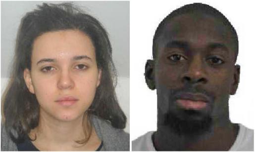 Amedy Coulibaly y Hayat Boumeddiene.