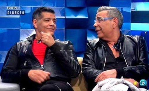 José y Juan Salazar, componentes de Los Chunguitos, durante el programa de Telecinco Gran Hermano, del que han sido expulsados por sus comentarios homófobos.