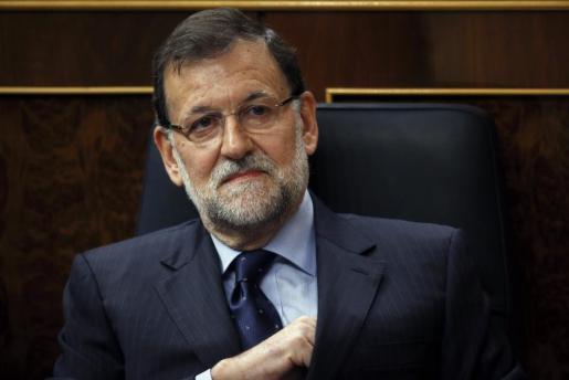 Rajoy, este miércoles en la sesión de control del Gobierno.