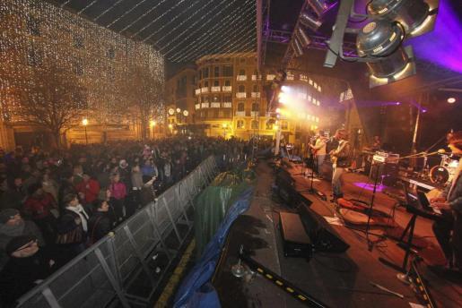 Imegen de uno de los conciertos de la Plaça de Cort este Sant Sebastià 2015.