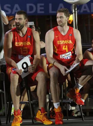 Los hermanos Marc y Pau Gasol.
