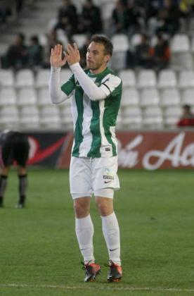 El delantero mallorquín Xisco Jiménez con la camiseta del Córdoba.