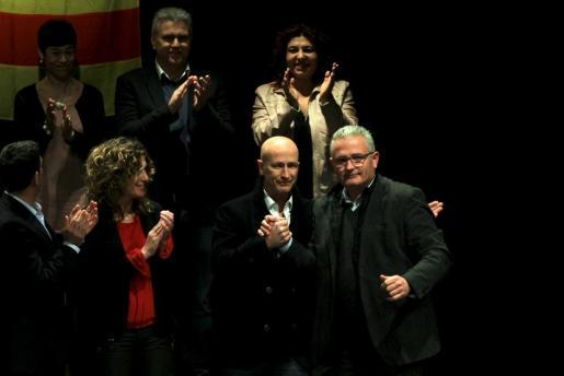 Los candidatos del Pi al Consell de Mallorca y al Parlament, Antoni Pastor y Jaume Font, respectivamente.