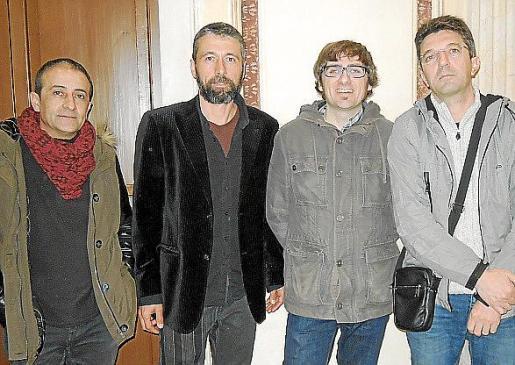 Joan Pascual, Toni Verd, Jaume Jiménez y Jaume Pons.