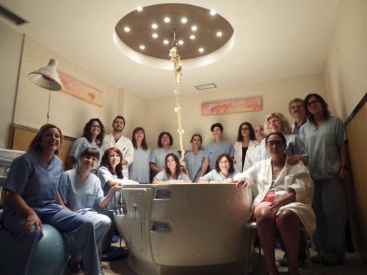 Parte del equipo médico de los paritorios del hospital comarcal de Inca.