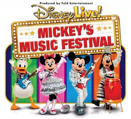 Cartel del espectáculo Disney Live! Mickey's Music Festival.