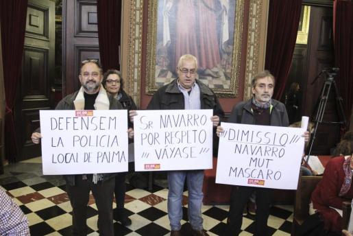 CC OO pidió la dimisión de Navarro, Mut y Mascaró.