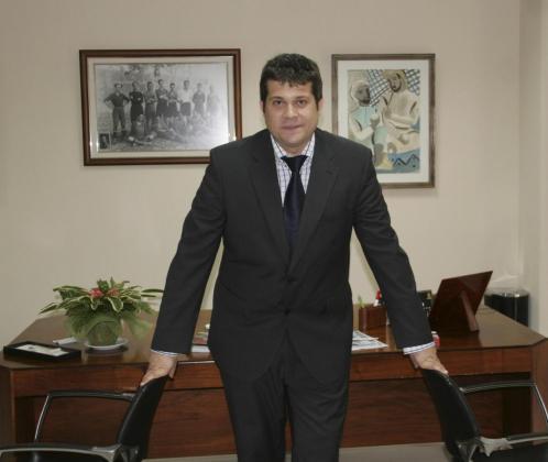 Martí Asensio, en el despacho de Son Moix en el tiempo que permaneció en el club.