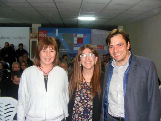 Francina Armengol, Pepa Ramis y Francesc Miralles.