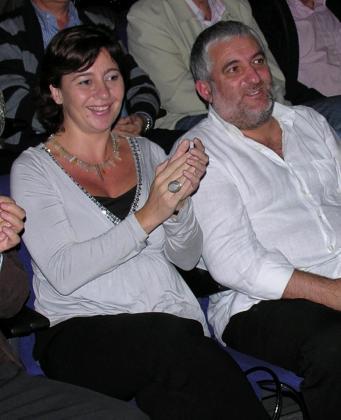 Francina Armengol y Bernat Coll, en una acto del partido en el año 2008.
