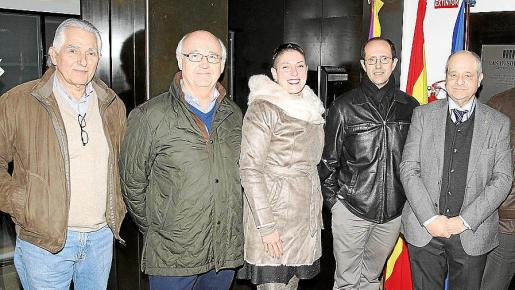 Jaume Coll, Mariano Planas, Lina Amengual, Miquel Frau, Tolo Oliver y Andreu Oliver.