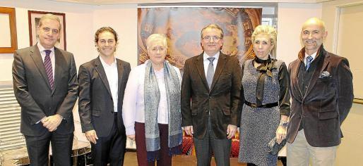 José María Ramis, Josep Maria Moreno, Margalida Moner, Joan Rotger, Magdalena Frau y Javier Nausia.
