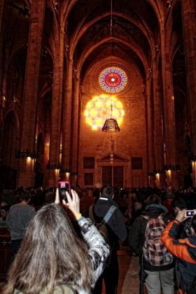 Numerosas personas presenciaron esté fenómeno de luces.