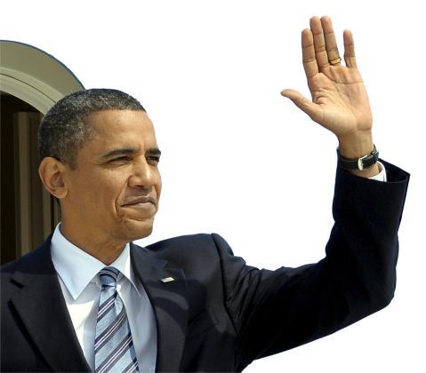 Una fotografía cedida por el G8 G20 Host Photo que muestra la llegada del presidente estadounidense Barack Obama en el aeropuerto de Toronto.