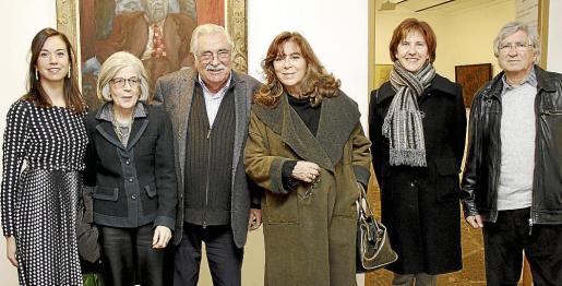 Antònia Maria Miró, Carmen Mateu, Pere A. Serra, Maria del Mar Bonet, Margalida Tur y Joan Ramon Bonet.