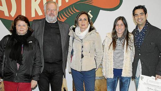 Lydia E. Corral, Luis A. Corral, Nela Costa, Xisca Capó y Andreu Genestra.