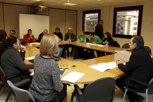Imagen de la reunión de la mesa sectorial de educación realizada este lunes.