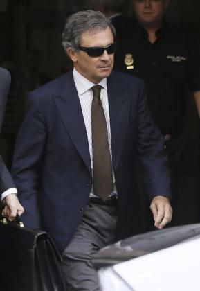 Jordi Pujol Ferrusola, hijo del expresidente de la Generalitat de Cataluña, a su salida de la Audiencia Nacional tras ser interrogado por el juez Pablo Ruz en junio de 2014.