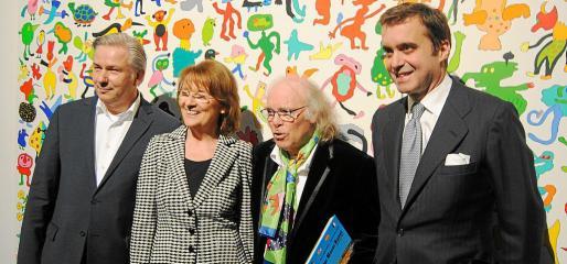 Klaus Wowereit, Dagmar Reim, Gustavo y Pablo García-Berdoy, embajador de España en Berlín.
