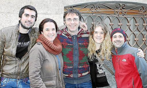 Joan Carles Munar, Cristina Morey, Miquel Àngel Mas, Joana Maria Seguí y David Sans.