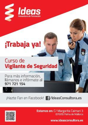 Ideas Consultora de Formación ofrece cursos de vigilante de seguridad.