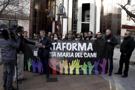 Una de las protestas de la plataforma que reclama un nuevo instituto en Santa Maria.