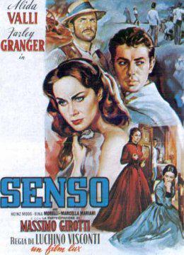 Cartel de la película 'Senso' del director Luchino Visconti.
