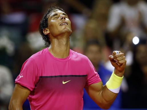 Rafael Nadal, tras ganar el partido.