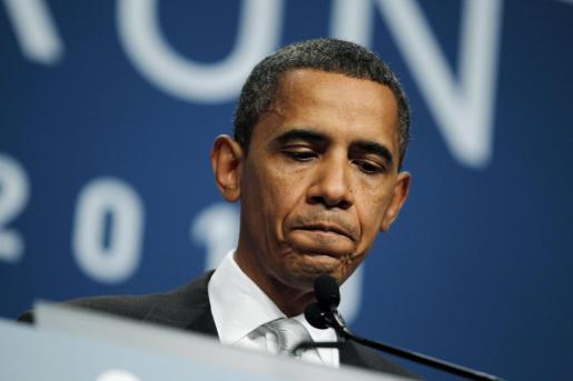 El presidente de Estados Unidos, Barack Obama, tras la clausura de la cumbre.