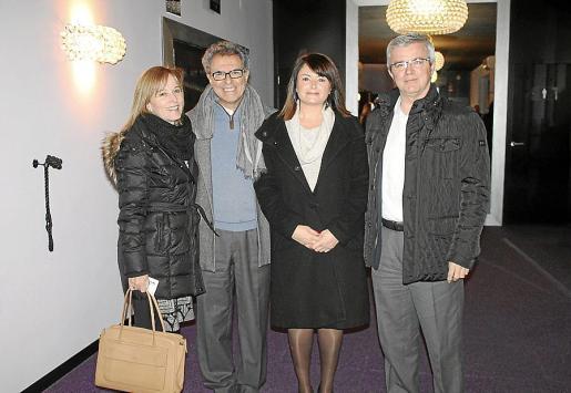 Cristina Gual, Pere Batle, Lucía Martín y Llorenç Julià.