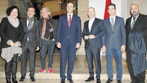 Pilar Ribal, Toni Vera, Fabrizzio Plessi, José Ramón Bauzá, Santiago Villanueva, Fernando Gilet y Jaime Martínez.