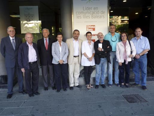 Pere Comas, Alfonso Ballesteros, Bartomeu Anguera, Carmen Serra, Juan Carlos Palos, Paula Serra, Sebastián Àlvaro, Tomeu Terrassa, Paula Mir y Juan Roca.