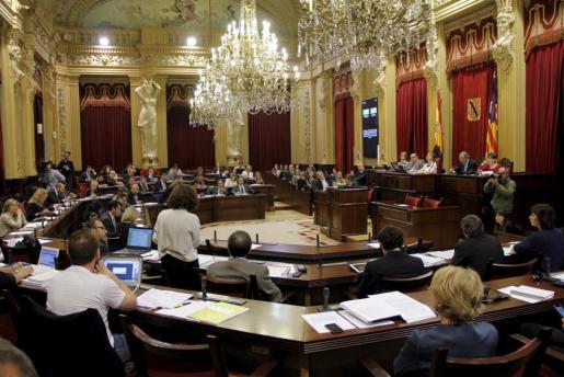 Imagen de archivo de una sesión del Parlament.