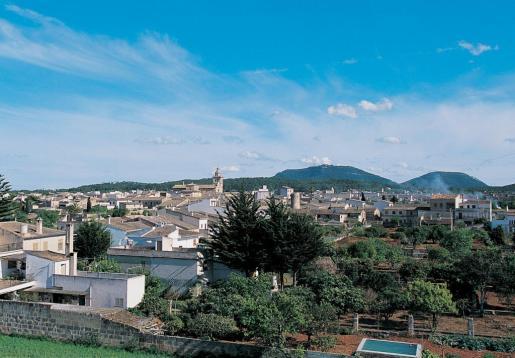 Vista del municipio de Algaida.