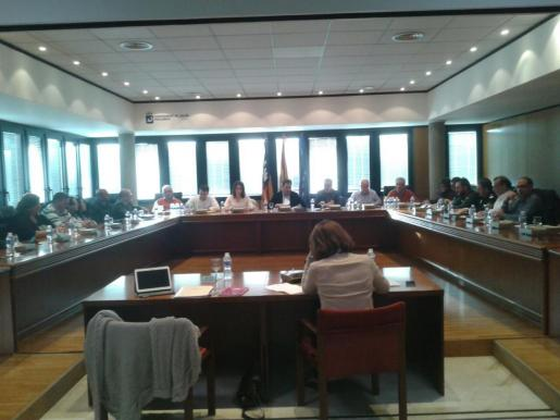Momento de la reunión de la Comisión de Seguimiento de la Temporada Turística en la localidad de Magaluf.