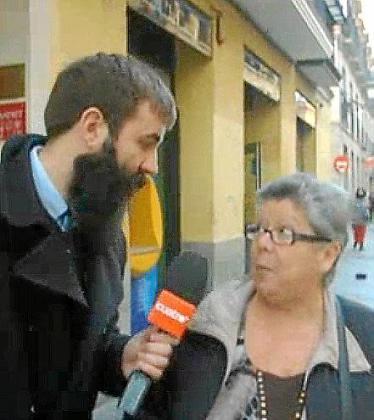 El presentador de 'Guasabi' preguntado a ciudadanos de Madrid.