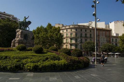 Imagen de archivo de la plaza de España.