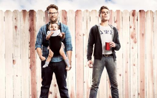 Cartel de la película 'Malditos vecinos' con Seth Rogen y Zac Efron.