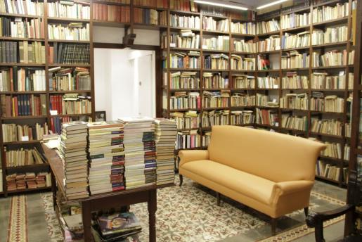 Vista interior de una libreria.