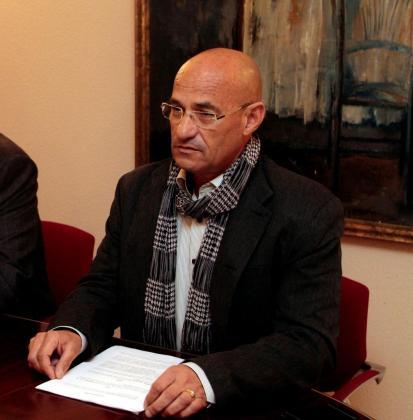 José Luis Barbero, en una imagen de archivo, durante la rueda de prensa que ofreció para defenderse de las acusaciones de maltrato.